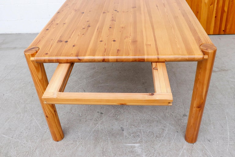 Rainer Daumiller Pine Dining Table with Single Leaf For Sale 11