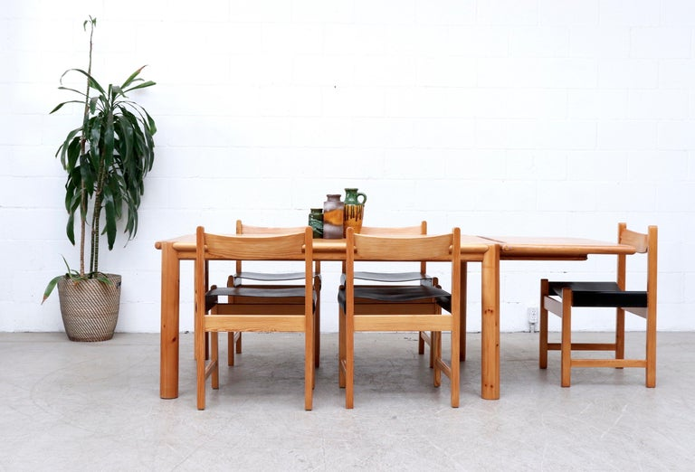 Mid-Century Modern Rainer Daumiller Pine Dining Table with Single Leaf For Sale