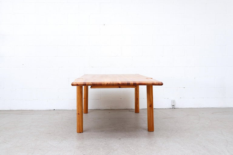 Late 20th Century Rainer Daumiller Pine Dining Table with Single Leaf For Sale