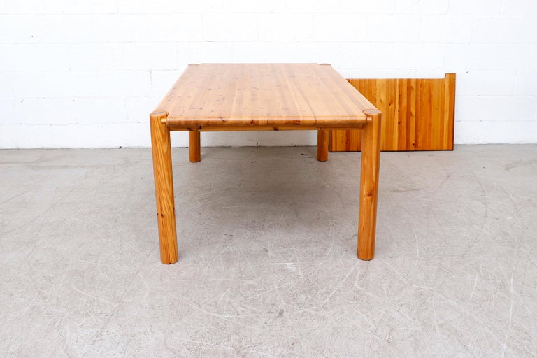 Rainer Daumiller Pine Dining Table with Single Leaf For Sale 1
