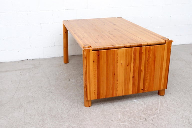 Rainer Daumiller Pine Dining Table with Single Leaf For Sale 3