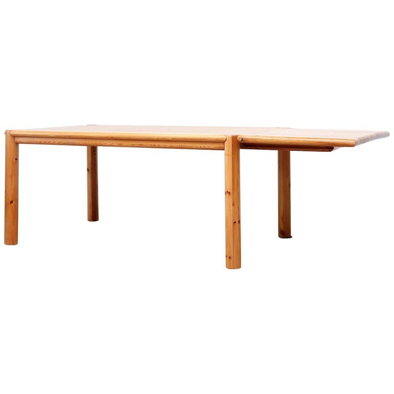 Rainer Daumiller Pine Dining Table with Single Leaf For Sale
