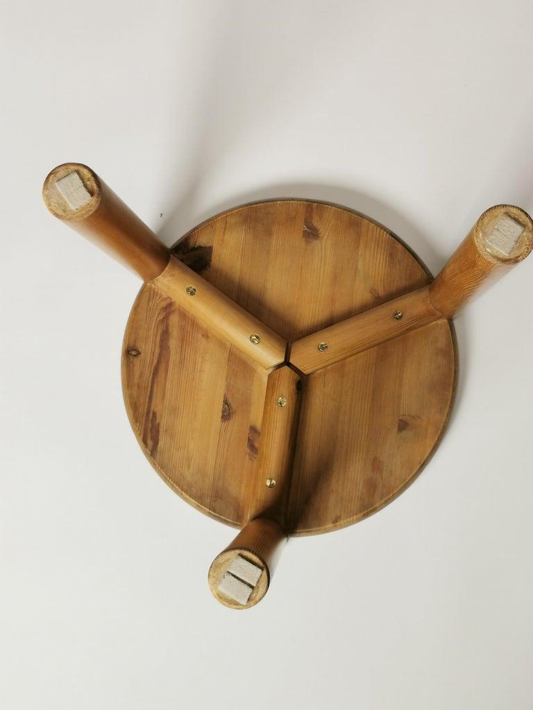 Rainer Daumiller, Pine Stool, Denmark, 1960s For Sale 3