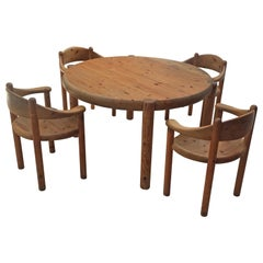 Rainer Daumiller, Set of 4 Chairs and 1 Table for Hirtshals Savvaerk, circa 1970