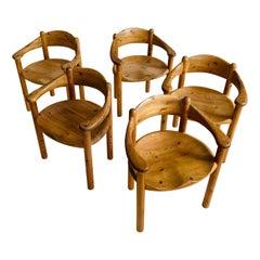 Rainer Daumiller Set of Five Pine Carver Chairs, Denmark, 1970s