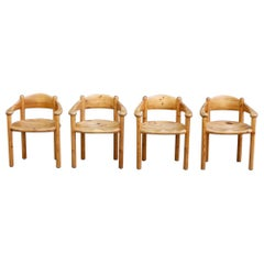 Rainer Daumiller Set of Four Pine Carver Chairs