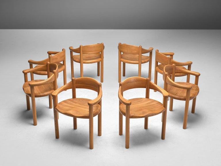 Scandinavian Modern Rainer Daumiller Set of Nine Armchairs in Ash For Sale