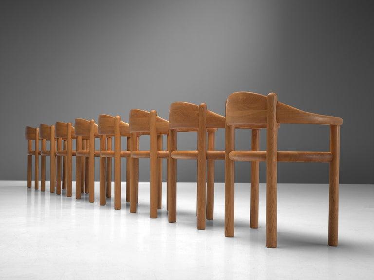 Danish Rainer Daumiller Set of Nine Armchairs in Ash For Sale