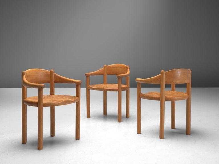 Rainer Daumiller Set of Nine Armchairs in Ash In Good Condition For Sale In Waalwijk, NL
