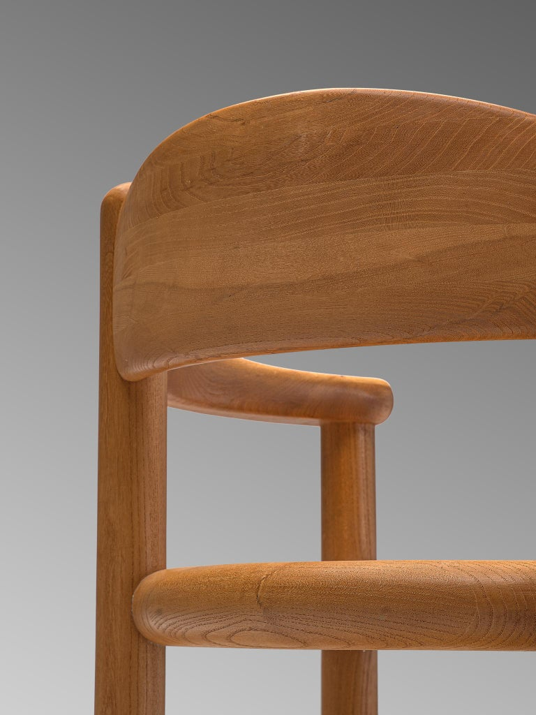 Elm Rainer Daumiller Set of Nine Armchairs in Ash For Sale