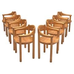 Rainer Daumiller Set of Eight Armchairs in Ash