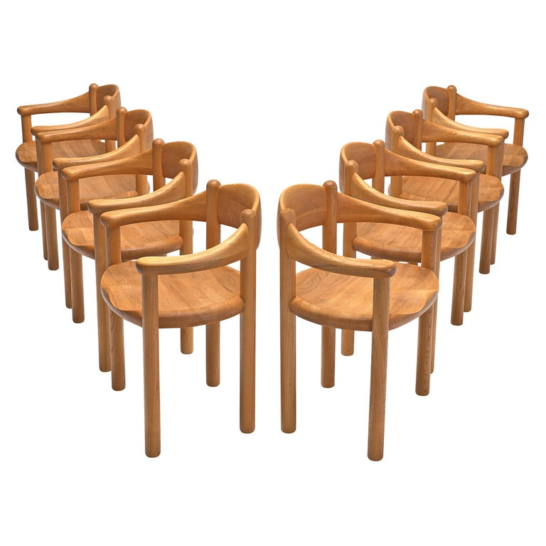 Rainer Daumiller Set of Nine Armchairs in Ash For Sale