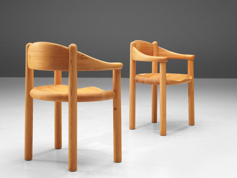 Late 20th Century Rainer Daumiller Set of Six Armchairs in Pine