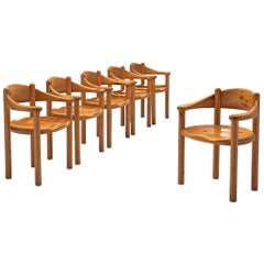Rainer Daumiller Set of Six Armchairs in Pine