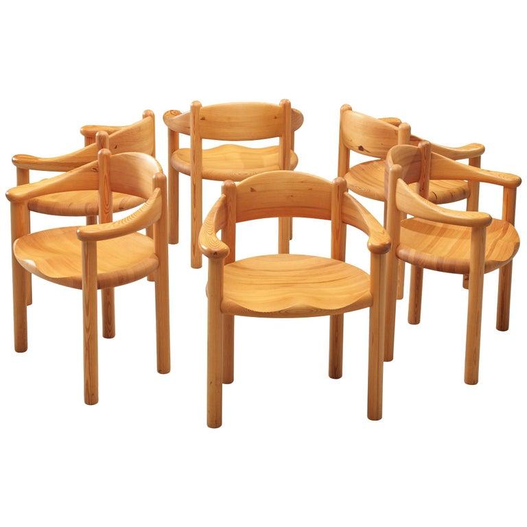 Rainer Daumiller Set of Six Armchairs in Pine