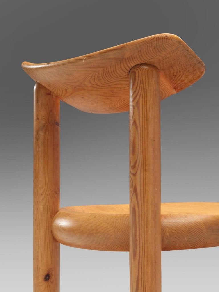 Danish Rainer Daumiller Set of Six Dining Chairs in Pine For Sale