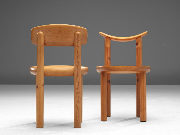Rainer Daumiller Set of Six Dining Chairs in Pine In Good Condition For Sale In Waalwijk, NL