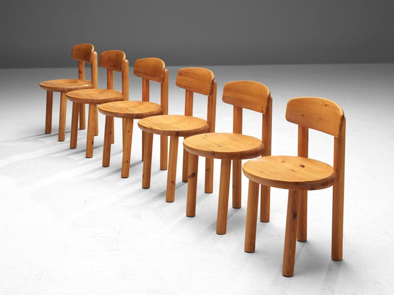 Rainer Daumiller Set of Six Dining Chairs in Pine For Sale 1