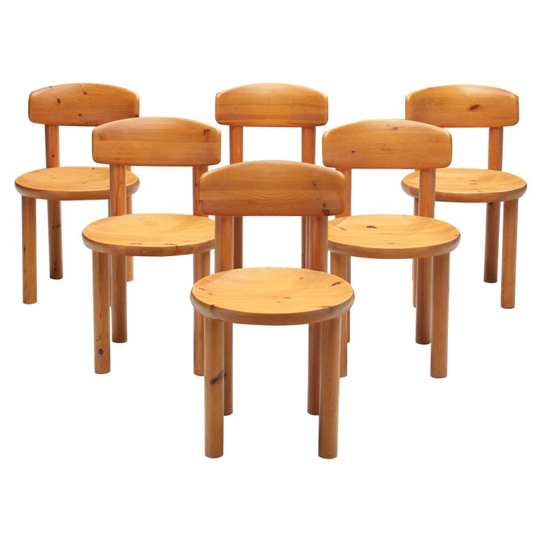 Rainer Daumiller Set of Six Dining Chairs in Pine For Sale