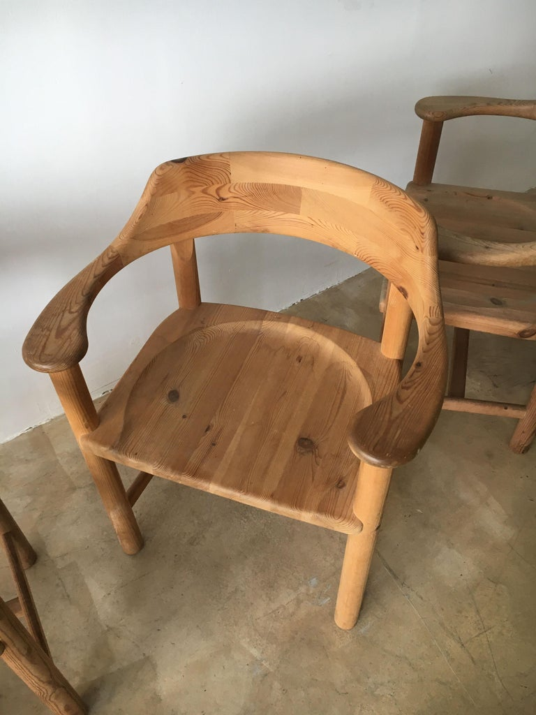 Rainer Daumiller Set of Six Pine and Cord Chairs, Denmark, 1970s For Sale 9