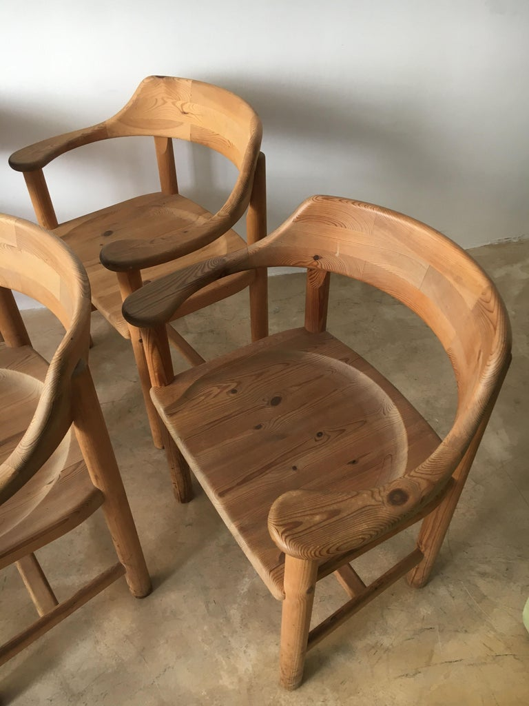 Rainer Daumiller Set of Six Pine and Cord Chairs, Denmark, 1970s For Sale 13