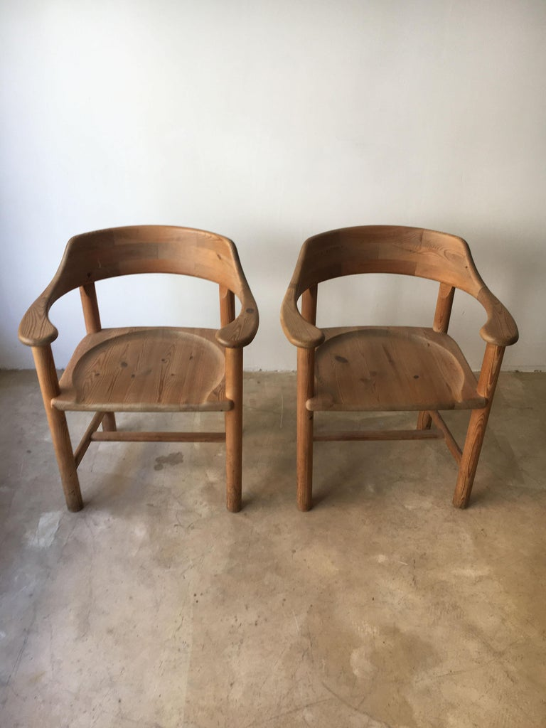 Rainer Daumiller Set of Six Pine and Cord Chairs, Denmark, 1970s In Good Condition For Sale In Vienna, AT