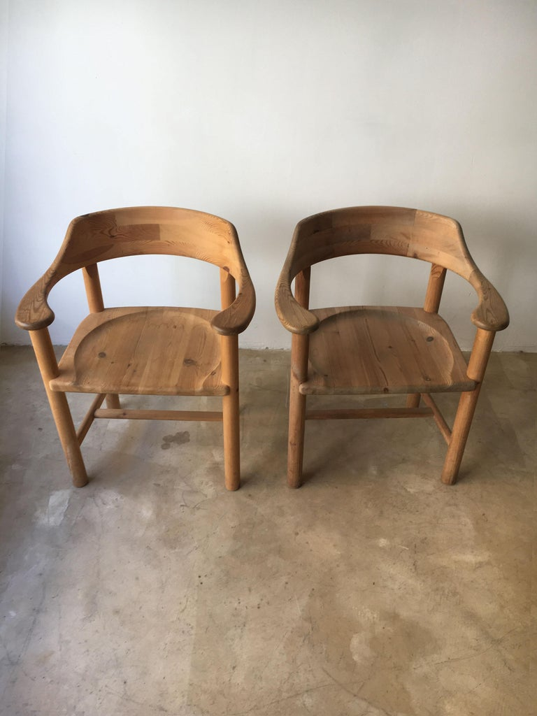 Late 20th Century Rainer Daumiller Set of Six Pine and Cord Chairs, Denmark, 1970s For Sale