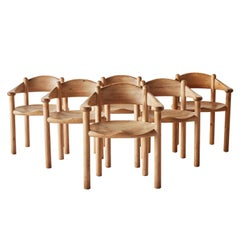 Rainer Daumiller Set of Six Pine Carver Chairs