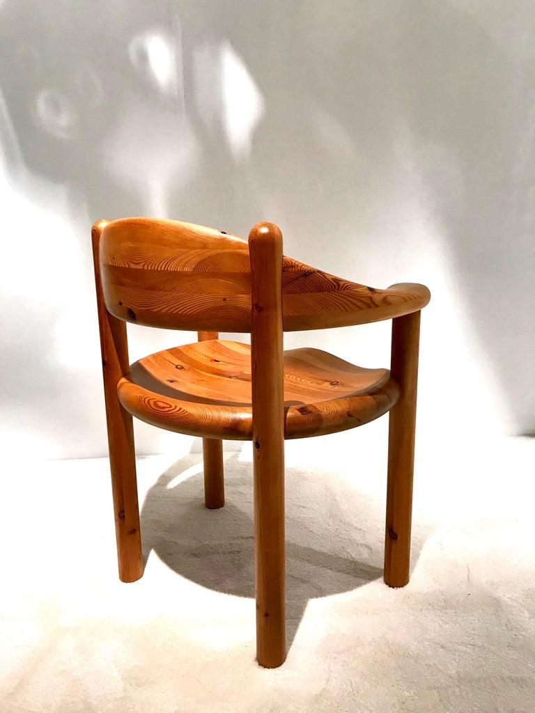 Mid-Century Modern Rainer Daumiller Solid Pine Chairs, 1960s-1970s For Sale