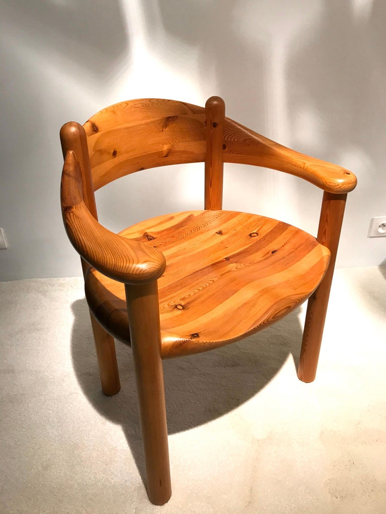 Danish Rainer Daumiller Solid Pine Chairs, 1960s-1970s For Sale