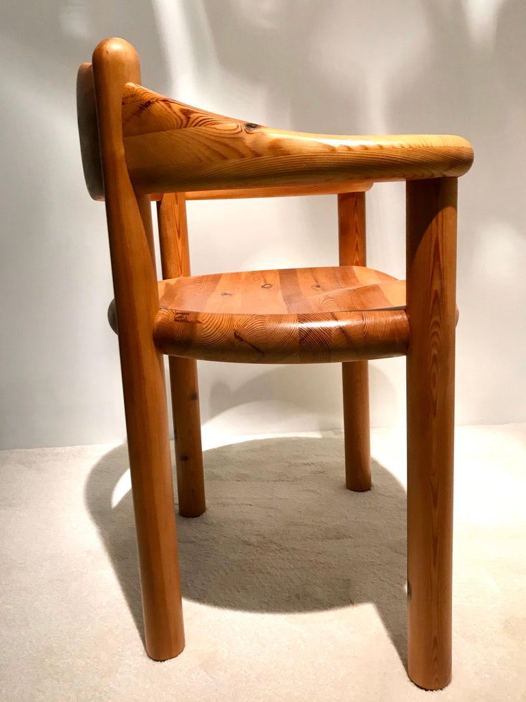 Rainer Daumiller Solid Pine Chairs, 1960s-1970s In Good Condition For Sale In Saint Ouen, FR