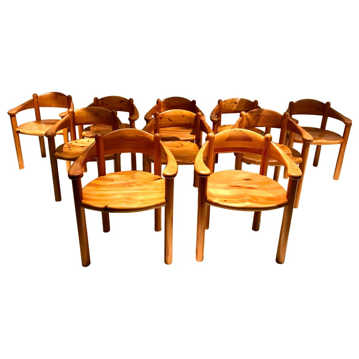 Rainer Daumiller Solid Pine Chairs, 1960s-1970s