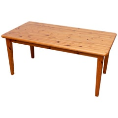 Rainer Daumiller Style Pine Dining Table
