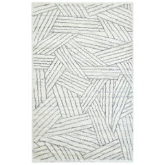Raisa, Contemporary Modern Hand Knotted Area Rug, Parchment