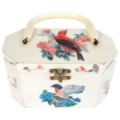 Raised Decoupage Box Handbag by Annie Laurie of Palm Beach