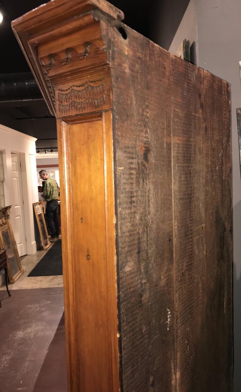Raised Panel Pine Four-Door Cupboard circa 1800 Probably Mid Atlantic States For Sale 4