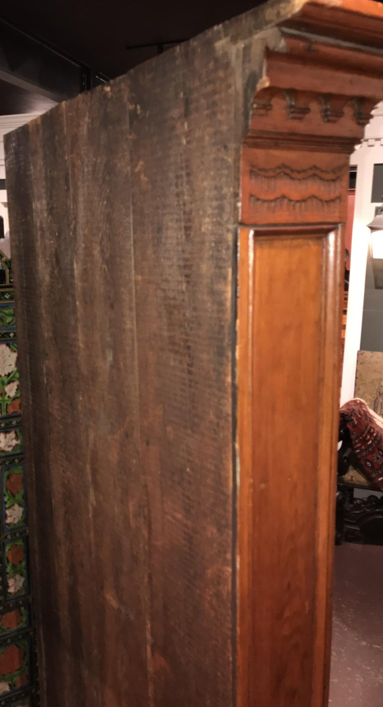 Raised Panel Pine Four-Door Cupboard circa 1800 Probably Mid Atlantic States For Sale 2