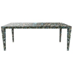 Raja Contemporary Mother of Pearl Table by Jacopo Foggini