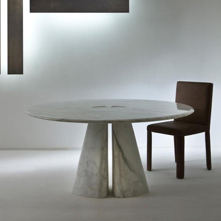 Modern Raja Round Table by Bartoli Design For Sale