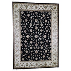 Rajasthan Half Wool and Half Silk Hand Knotted Oriental Rug