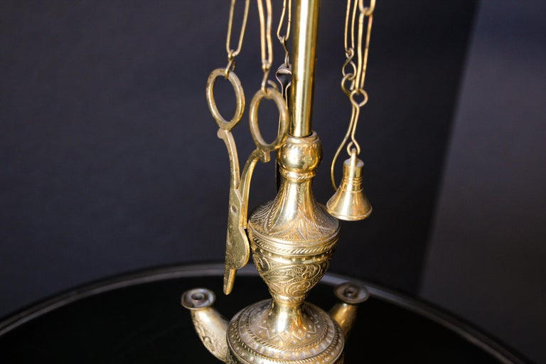 Rajasthan India Brass Oil Lamp For Sale 3