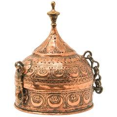 Rajasthani Decorative Copper Lidded Betel Caddy Box