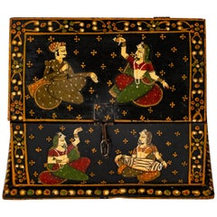 Rajasthani Indian Hand Painted Vaulted Jewelry Dowry Box