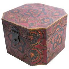 Rajhastani Hand Painted Decorative Box with Floral Designs