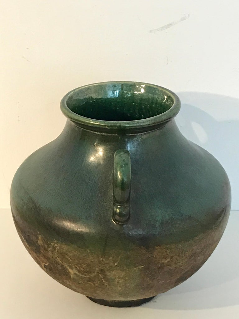 Raku Pottery Classical Vase, by Tony Evans For Sale 2