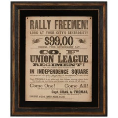 """Rally Freemen!..."" Civil War Recruitment Broadside"