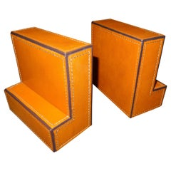 Ralp Lauren Desk Set of Tobacco Color Leather Separate Books