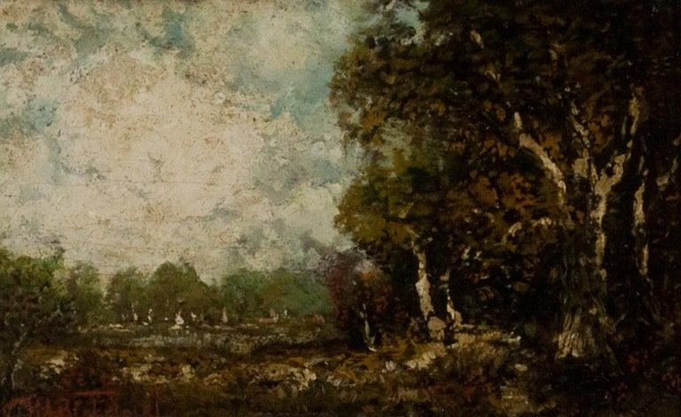 Ralph Albert Blakelock Landscape Painting - Indian Encampment