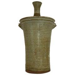 Ralph Bacera Lidded Studio Ceramic Vase