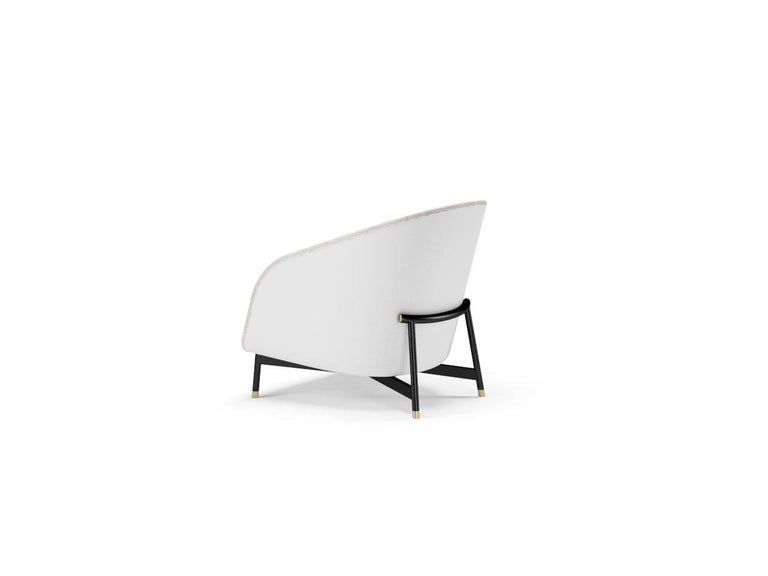 Contemporary Armchair by Fabio Arcaini Metal and Leather Seating In New Condition For Sale In Modugno, IT